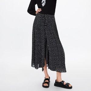 Black Polka Dot Maxi Skirt